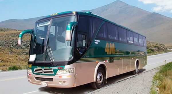 Tourist route with stops: Chivay – Puno: 4m-express