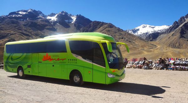 Route of the Sun: Bus with touristic stops. Cusco – Puno